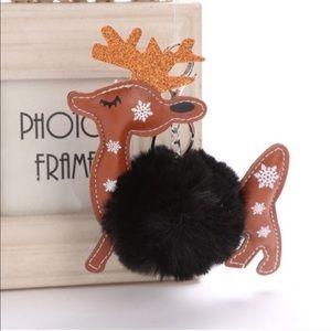 Accessories - Holiday Reindeer Pom Pom keychains